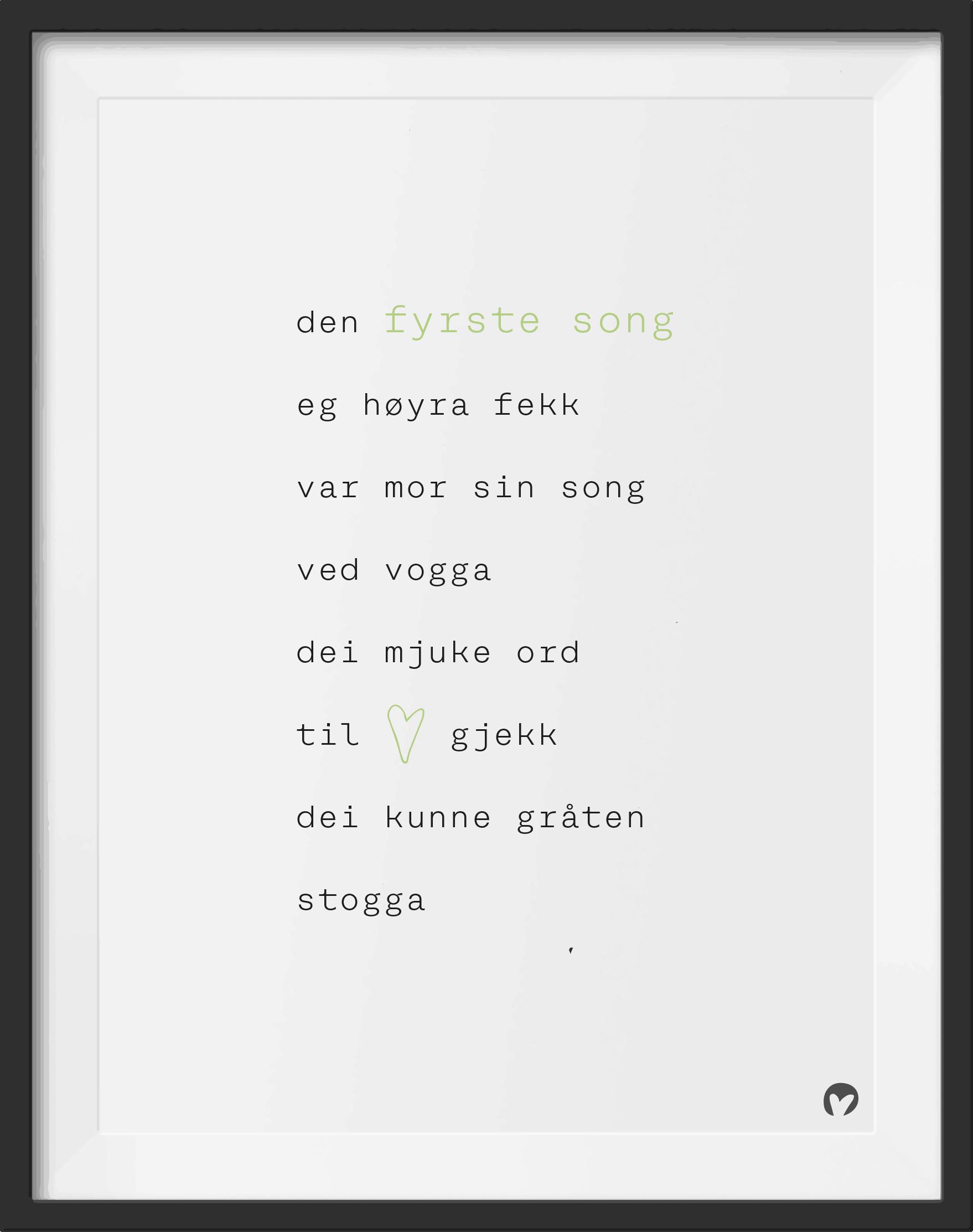 den fyrste song tekst